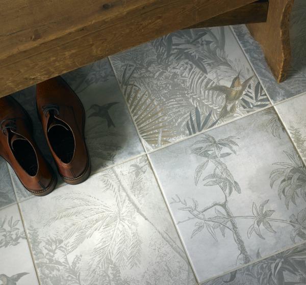 botanical inspired tiles
