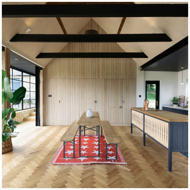 Sebastian Cox Kitchen by deVOL - open plan barn living