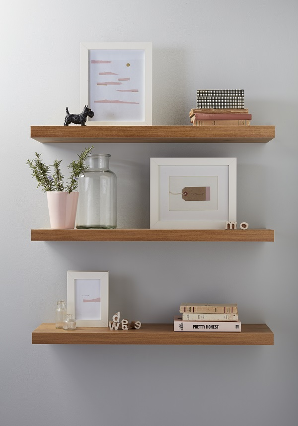 simple floating shelves