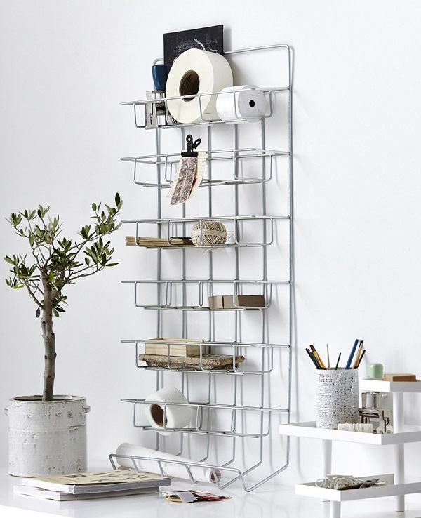Wire Shelf Rack for the home office