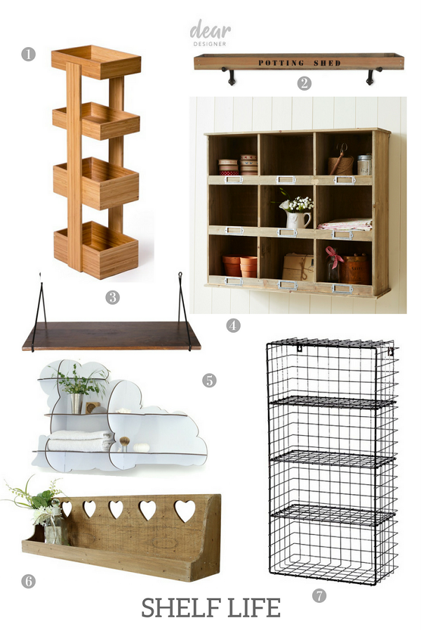 shelves in all shapes and sizes