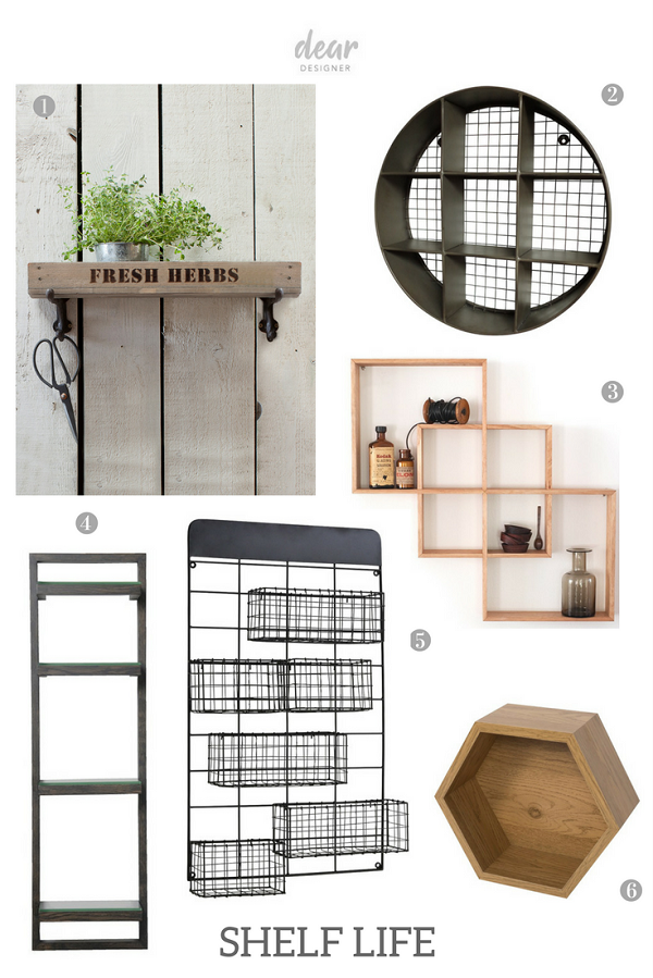 selection of small shelves