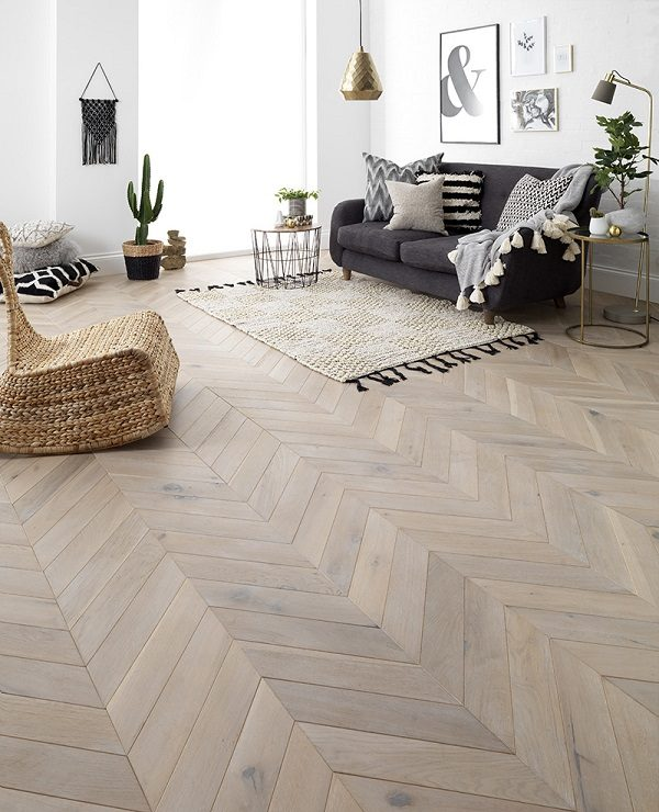 Beautiful parquet wood floor