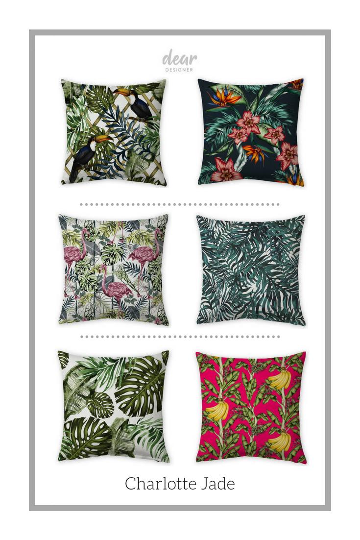 Hand-drawn pattern designs from Charlotte Jade