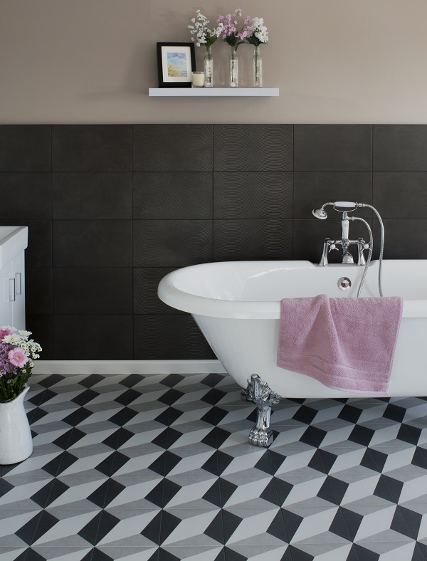 bathroom trends - patterned tiles