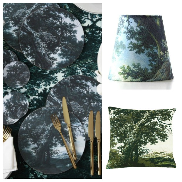 The Heart of The Forest in Your Home with accessories - lampshades, cushions, table linen