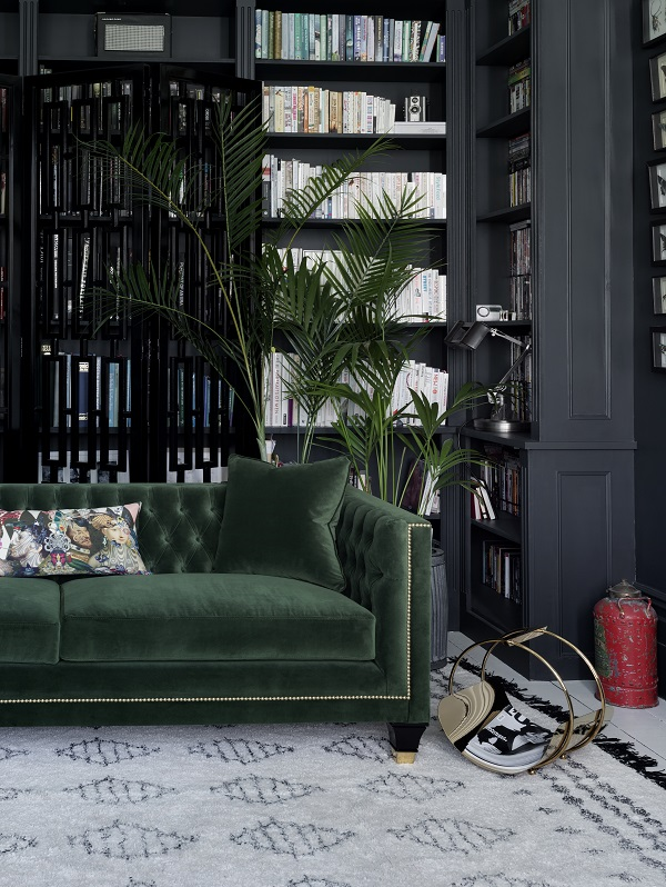 The Heart of The Forest in Your Home with a green velvet sofa