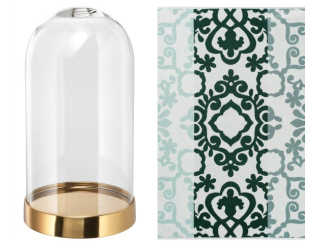 ikea today - green and gold