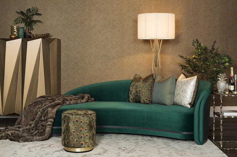 Art Deco influences - the urban botanics from The Sofa and Chair Co