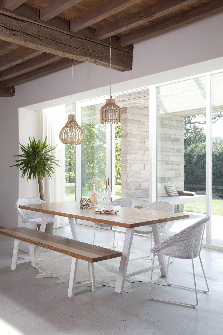 Woven and sustainable lamp shades the best of the bunch dear woven lampshades over the dining table aloadofball