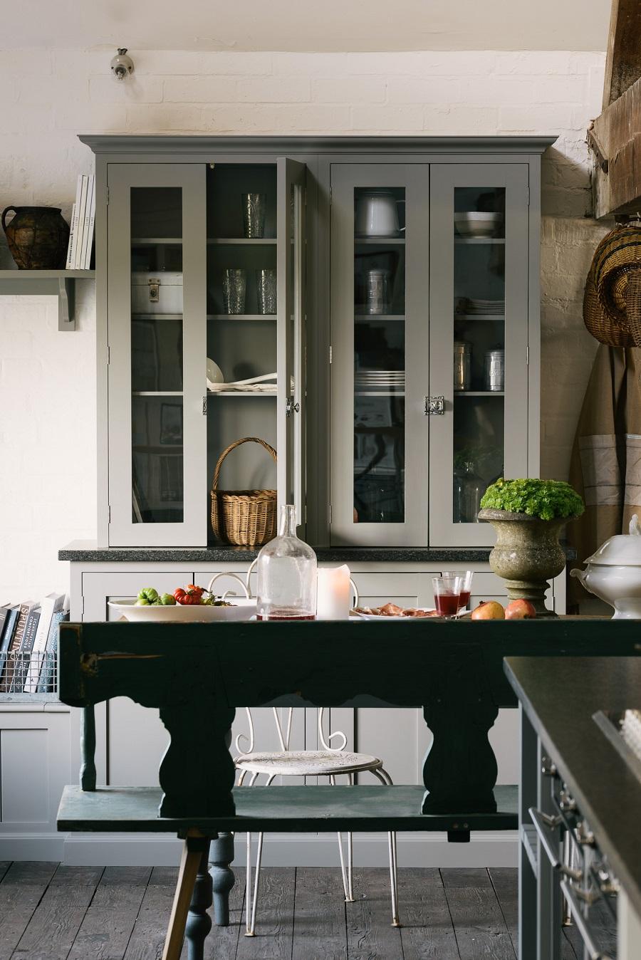 loft kitchen - glazed cabinet