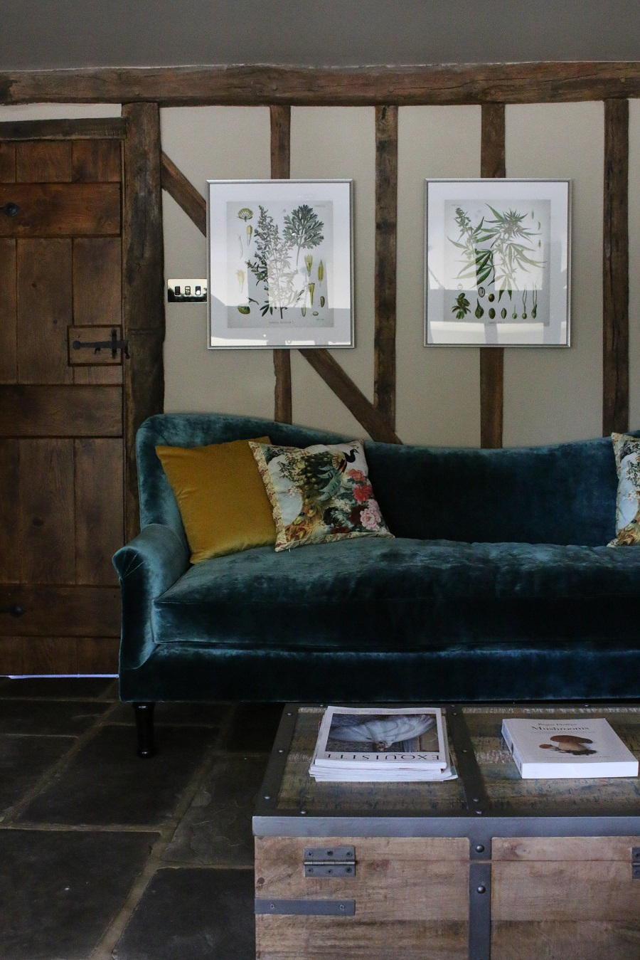 The snug - cosy, beams, but a boho vibe