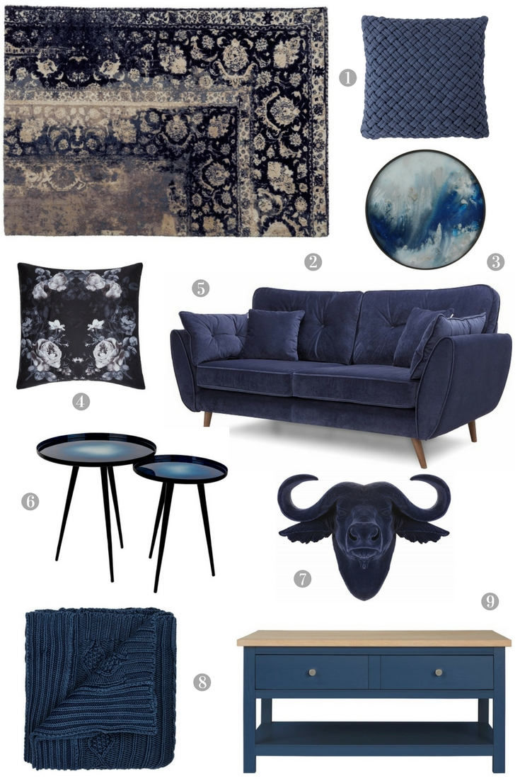Exploring the Sophisticated Side of Navy Blue in the Home - accessories