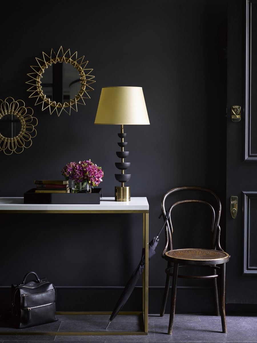 A Hall Needs a table lamp to Look Welcoming for Guests