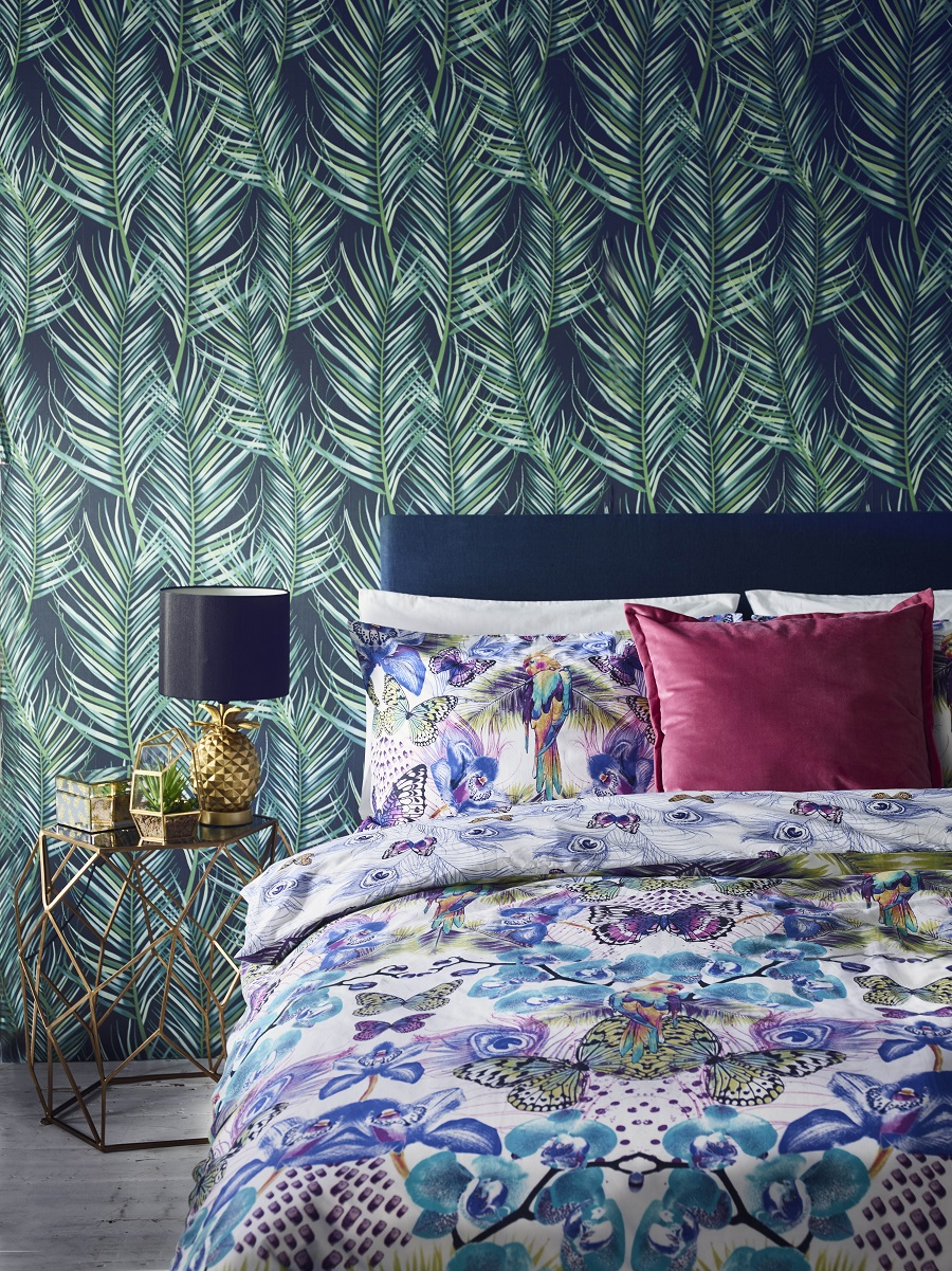 Common Interior Design Mistakes and How to Avoid Them - balance feature wallpaper with colour and pattern in the rest of the room