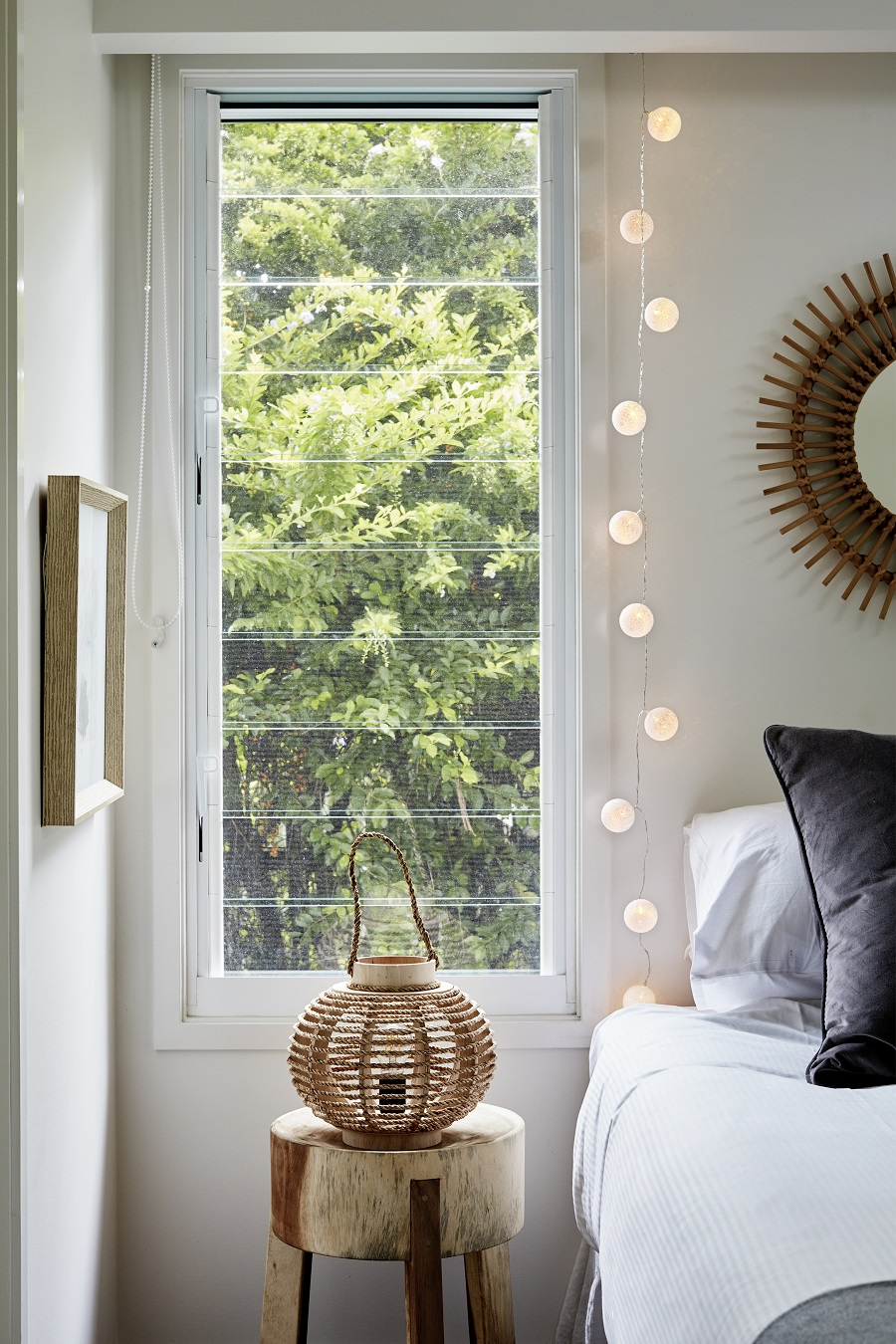 Fairy Lights are not just for Christmas - use as a nightlight in the bedroom