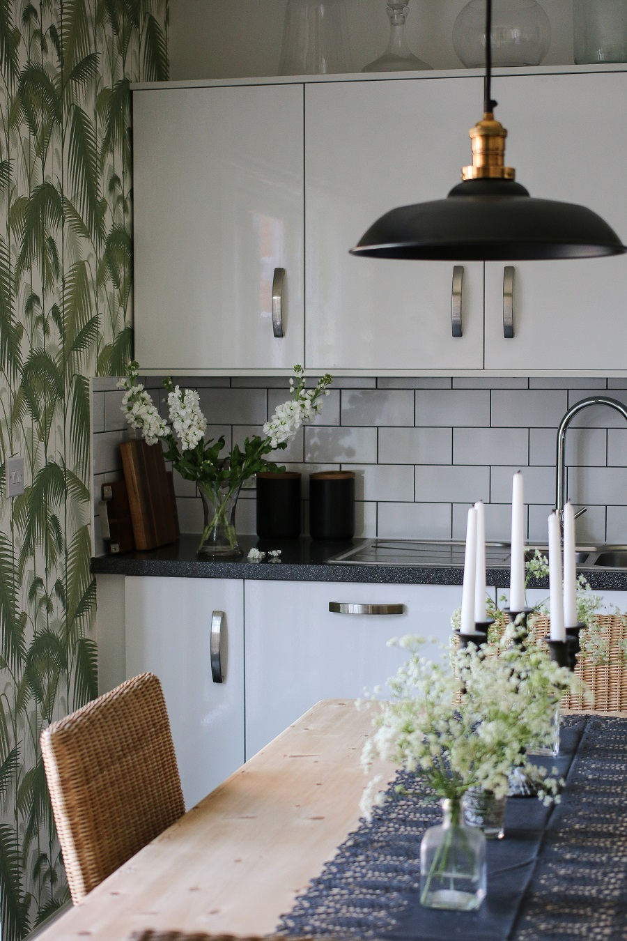 Which Wallpaper and Where to Hang it - don't be afraid to wallpaper the kitchen