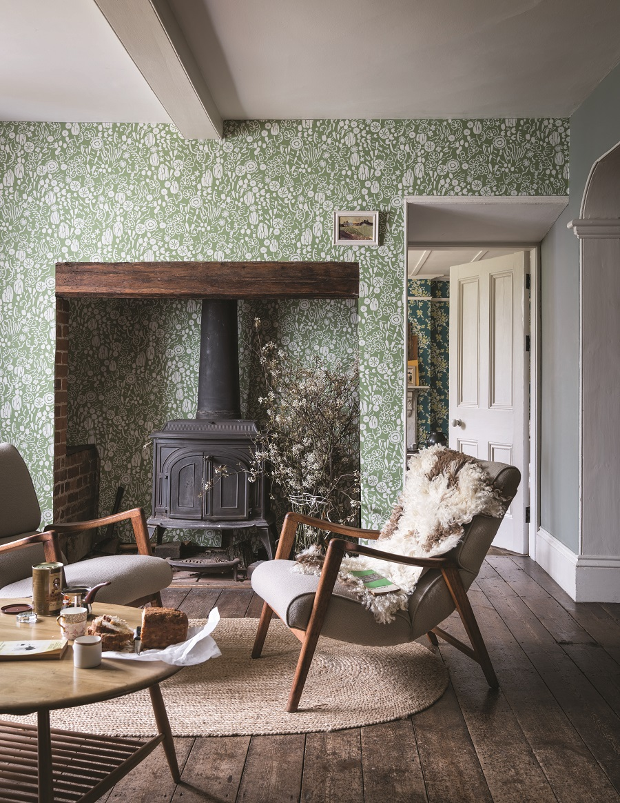 Which Wallpaper and Where to Hang it - cottage style from Farrow and Ball