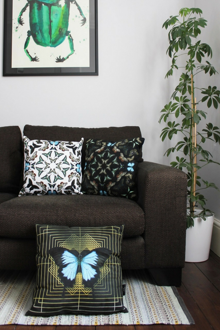Get The Bug for Some Creepy Crawlies in Your Home on cushions and artwork