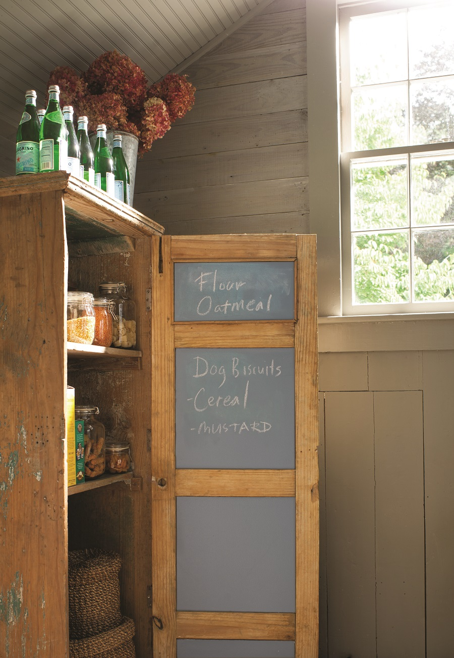 A handy chalkboard for shopping list reminders