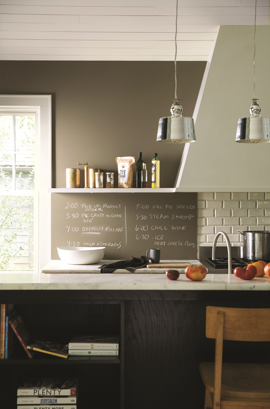 a handy chalkboard for planning a dinner party