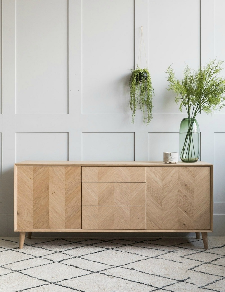 Personal Favourite Rose and Grey - mid-century style sideboard