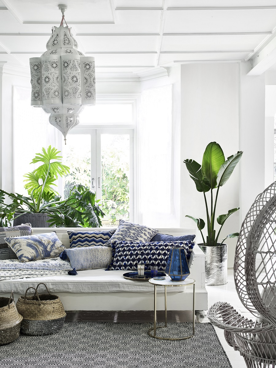 Blues around the home - classic blue and white combo