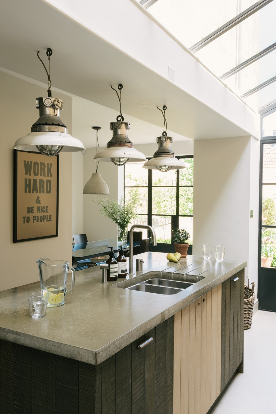A Cook's Kitchen That Combines a Modern Rustic Aesthetic With Industrial Style