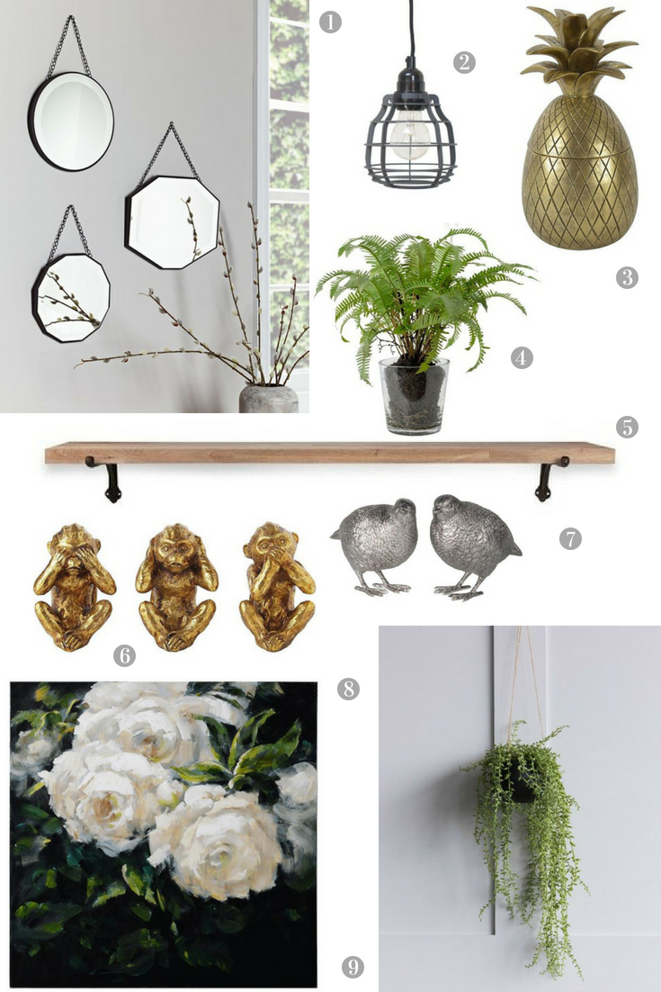 Decorative accessories for a guest bedroom