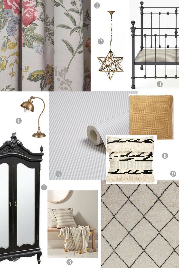 Decorative scheme for a guest bedroom
