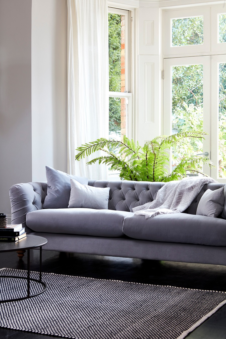 Stunning Sofa Design in elegant grey