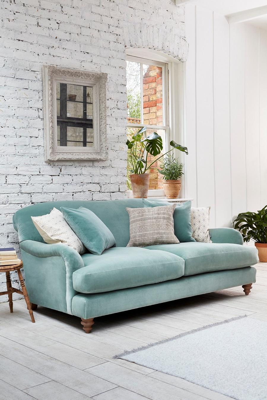Stunning Sofa Design in pastel velvet