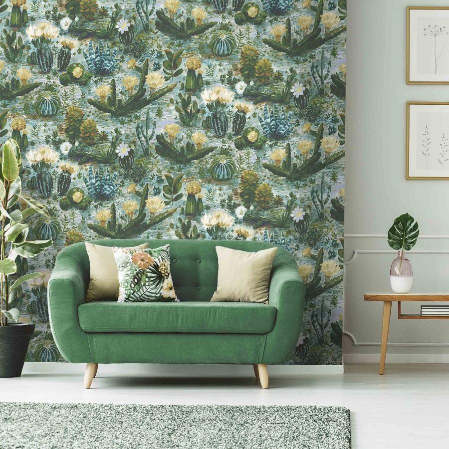 Cactus Print Wallpaper