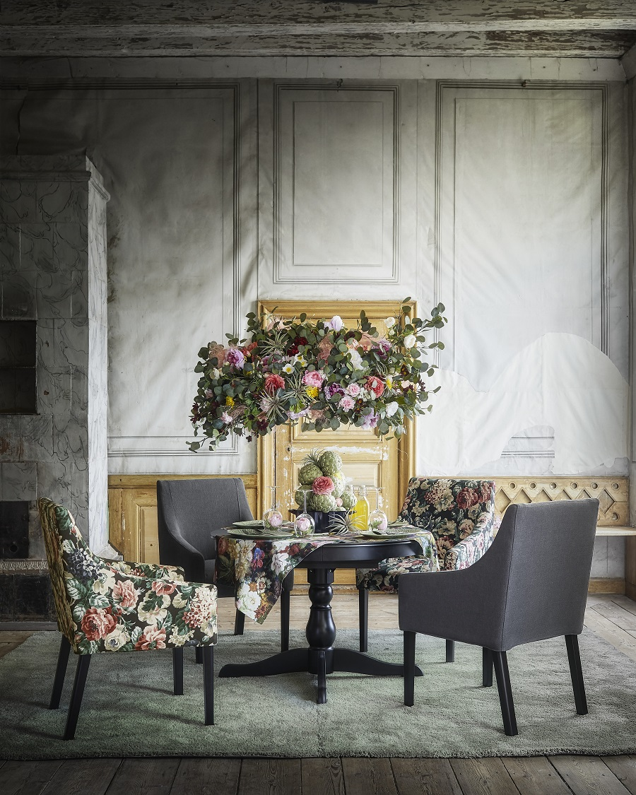 Coming Soon. A New Dark and Moody Look from IKEA with new floral fabrics