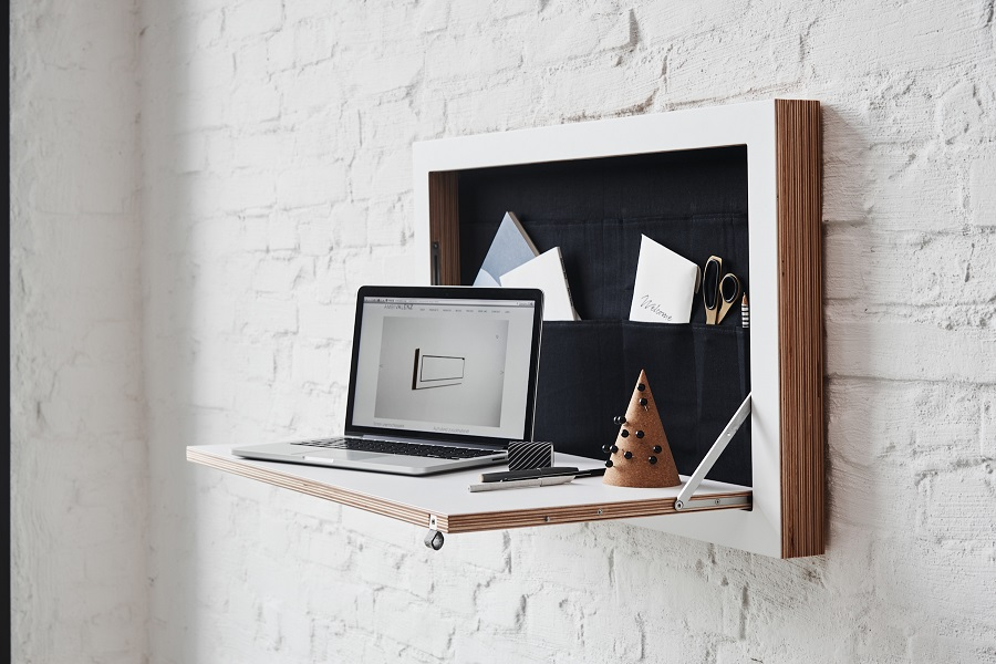 Nifty Wall Storage Ideas for Small Space Living - in the workspace