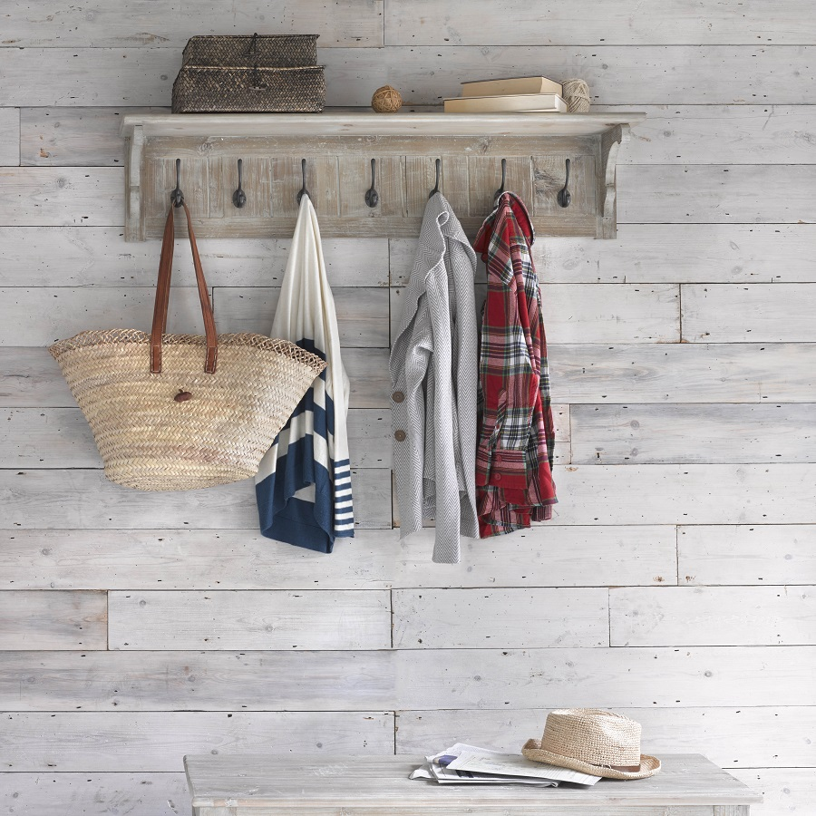 Nifty Wall Storage Ideas for Small Space Living - the entrance hall