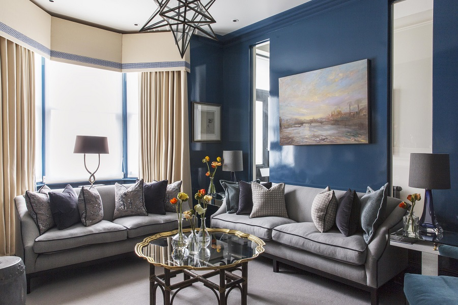 A Spacious and Light-Infused Victorian Terraced House with Accents of Moody Blue