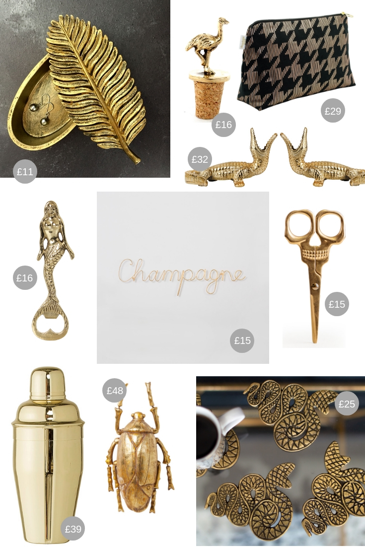 Christmas Gift Guide All That Glitters - gold