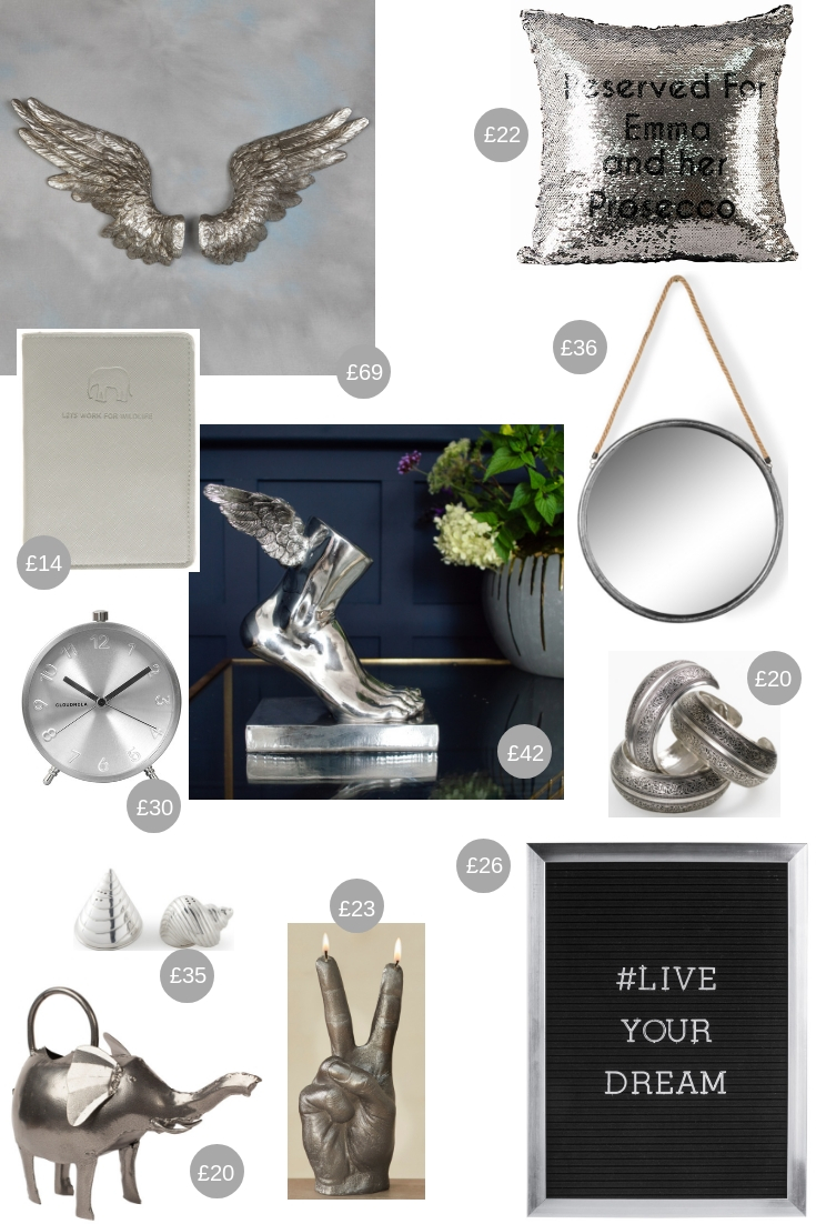 Christmas Gift Guide All That Glitters - silver