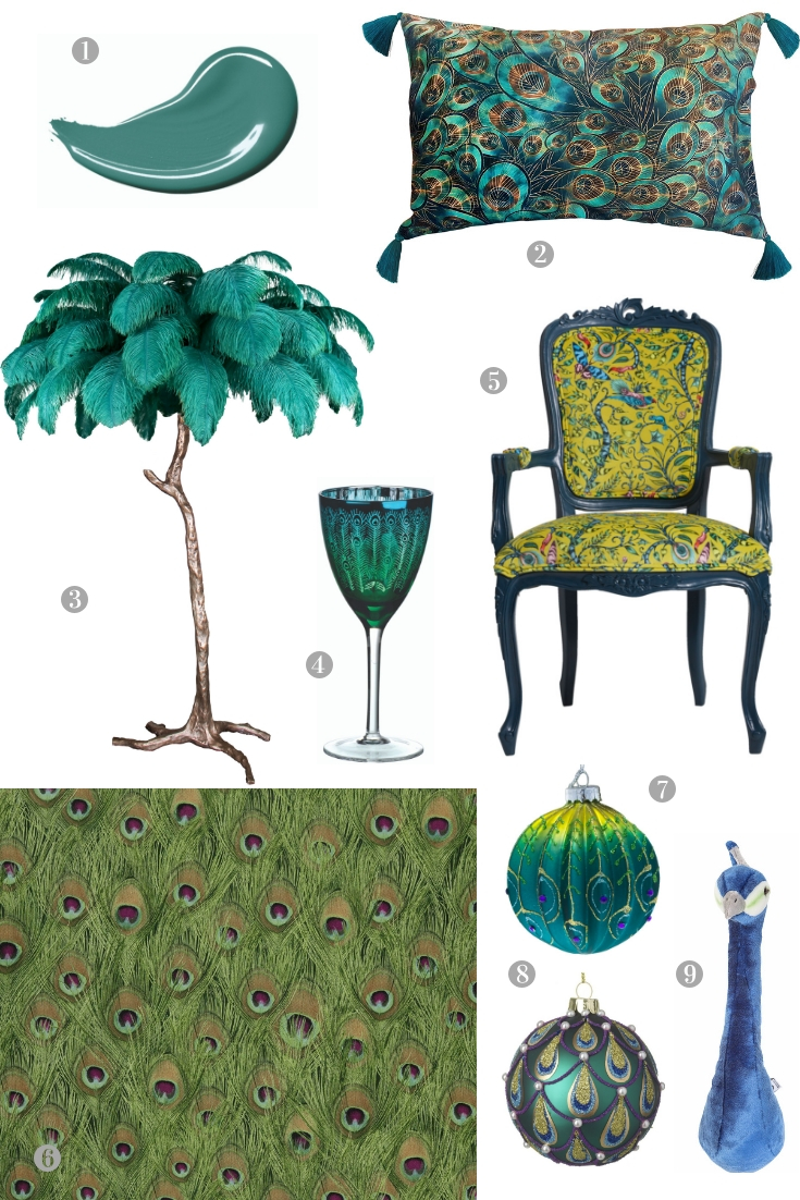 Trend Alert: The Exotic Peacock Comes Home