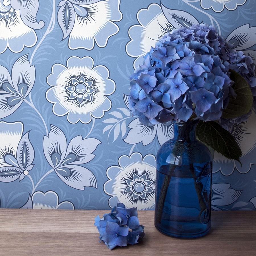 Wallpaper Inspired by Russian Folk Art