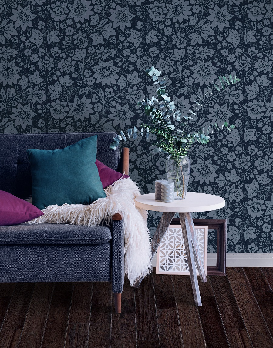Wallpaper Inspired by Russian Folk Art