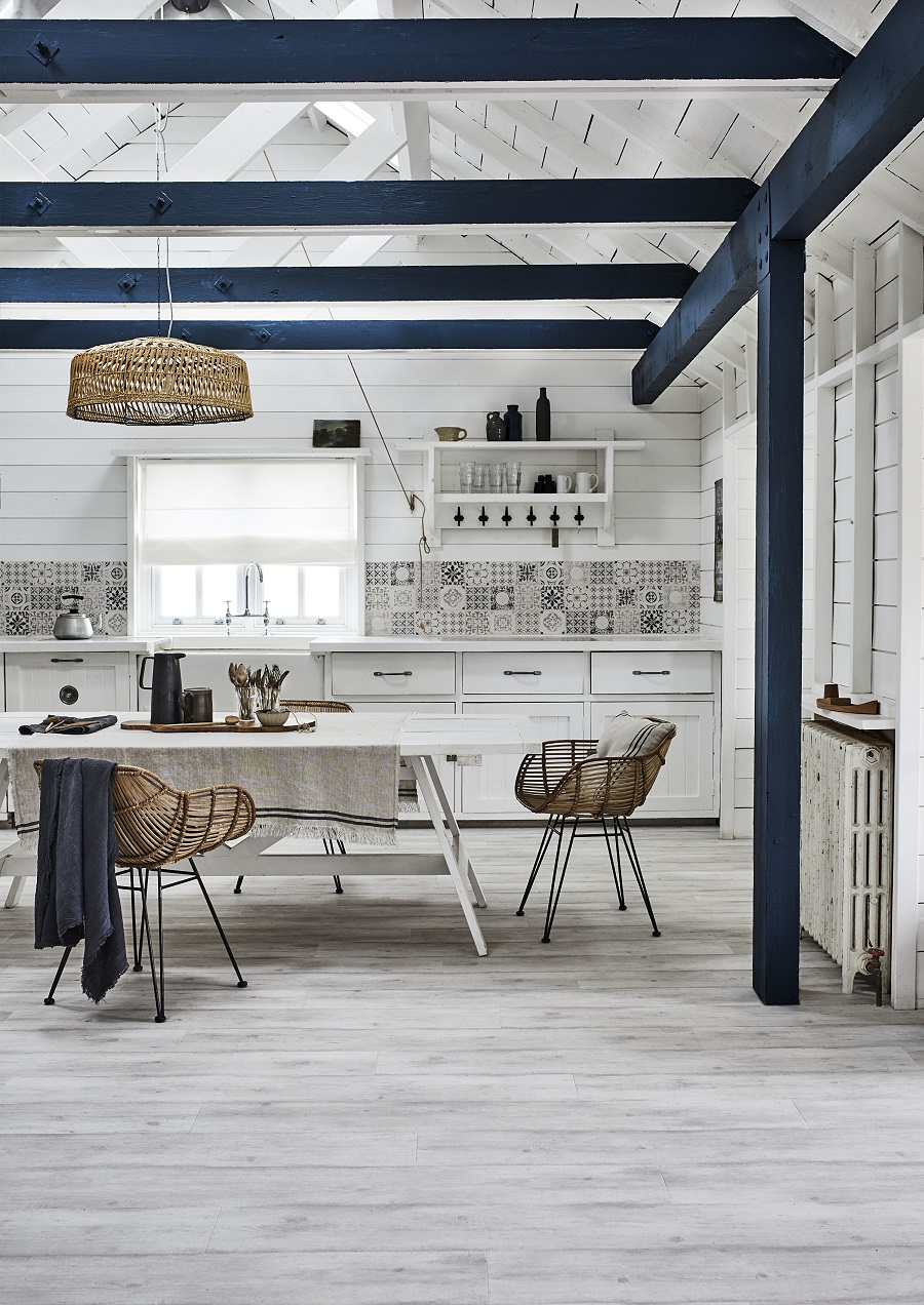A Country Style Kitchen with a Light Scandinavian Touch