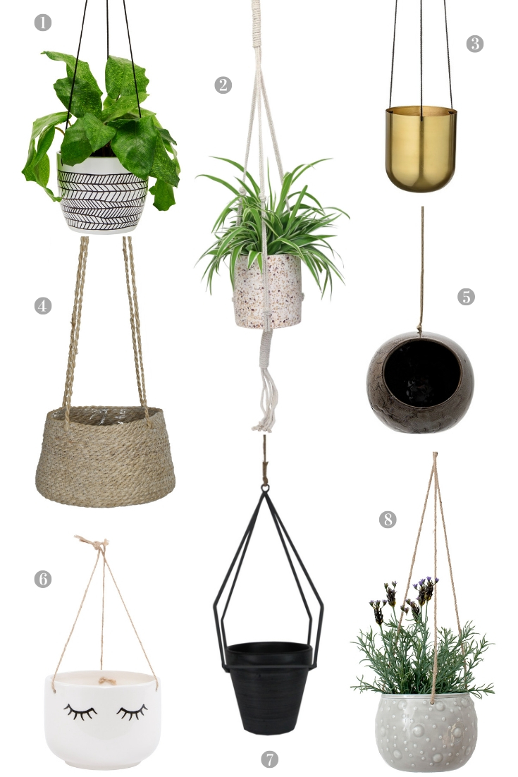 Trends: Indoor Hanging Plant Pots