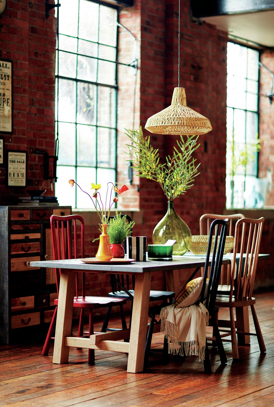 A Colourful Loft-Style Dining Space and How to Get The Look