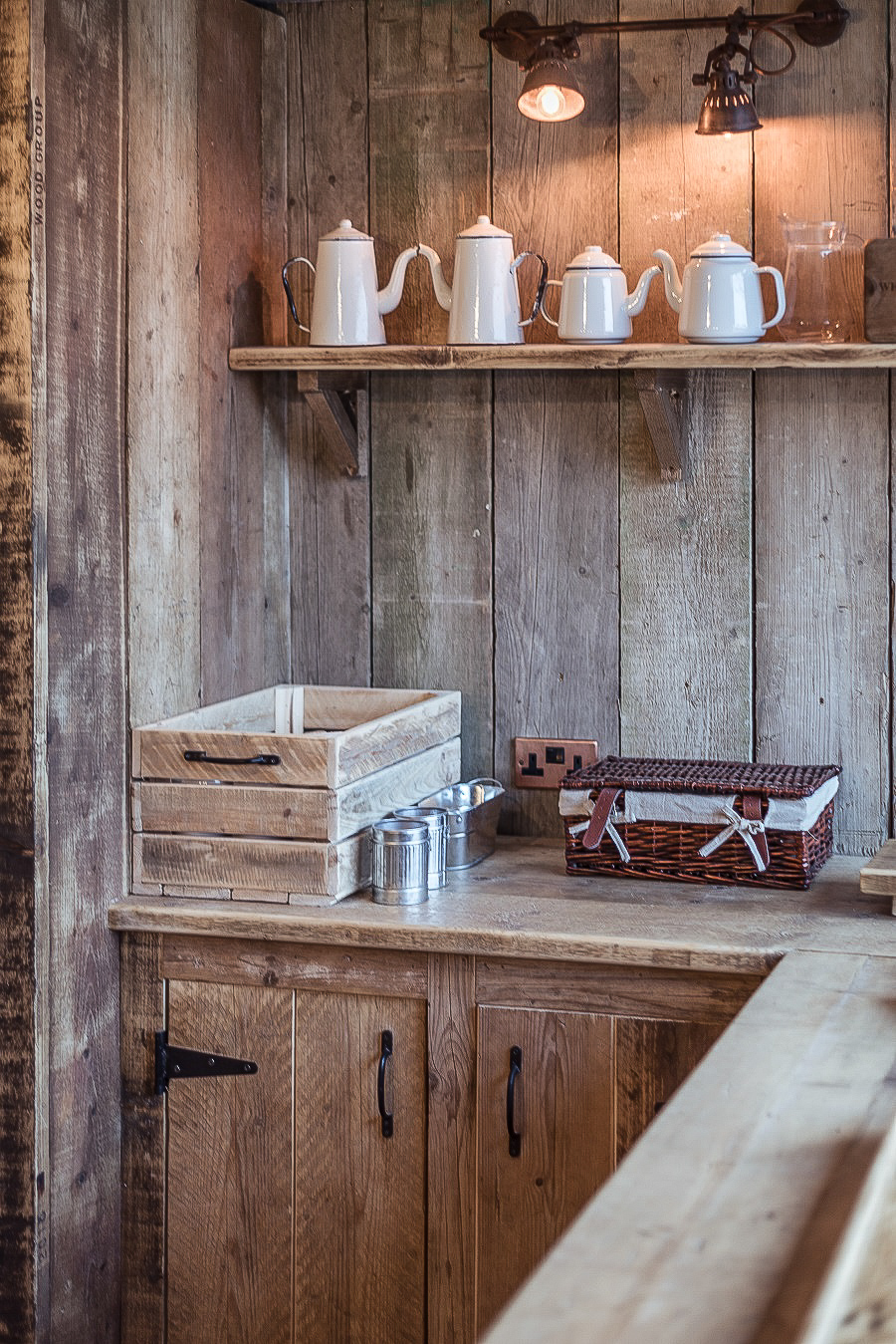 A Beautiful Rustic Kitchen Handmade in Devon