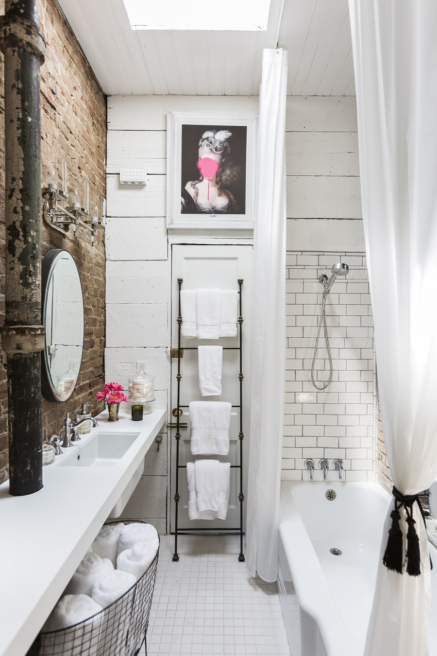 A Loft Style Bathroom and How to Get The Look