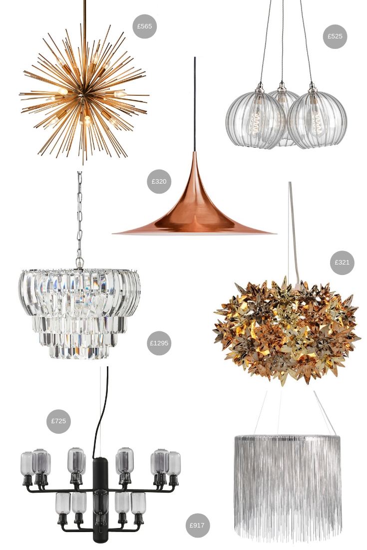 Statement Ceiling Lights Over £300