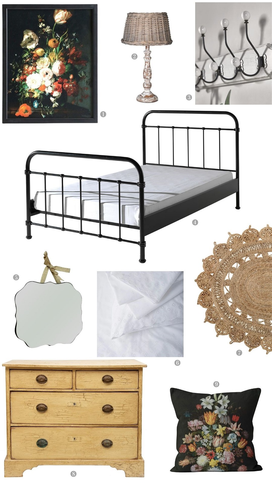 A Simple French Country Bedroom - Get The Look