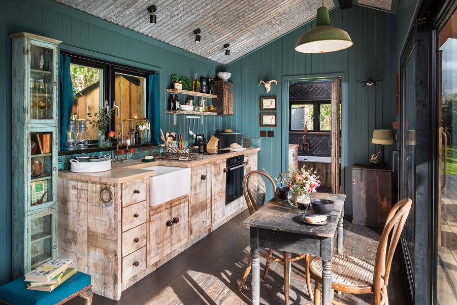 A Get-Away-From-It-All Cabin Full of Rough-Luxe Glamour